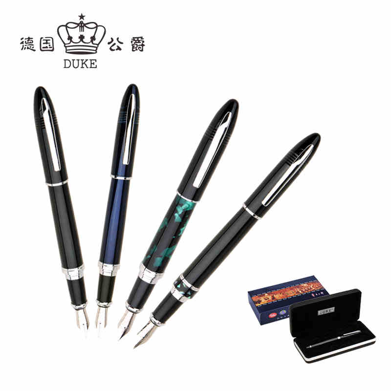 Free Shipping Duke 911 Fountain Pen Medium 0.5mm Iraurita Ink Pen Luxury Gift Pens with An Original Box Office&school Supplies duke 318 art nib fountain pen 0 8mm 1 0mm writing point calligraphy pen iraurita writing pens with an original box free shipping