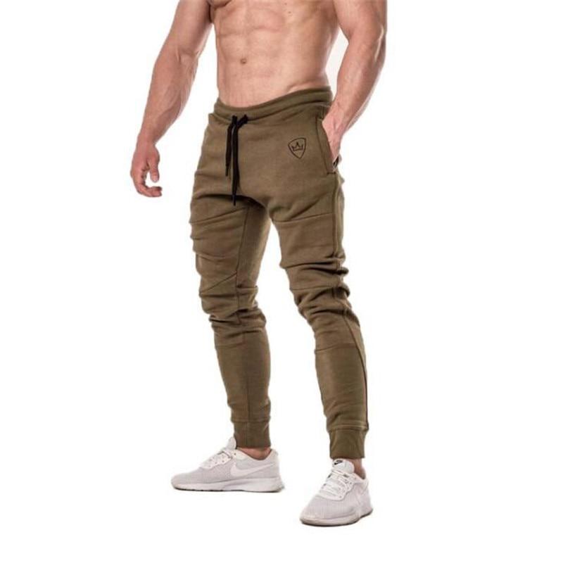 2018 Herbst Winter Turnhallen Männer Jogger Jogginghose Männer Jogger Casual Hosen Sporting Kleidung Die Hohe Qualität Bodybuilding Hosen