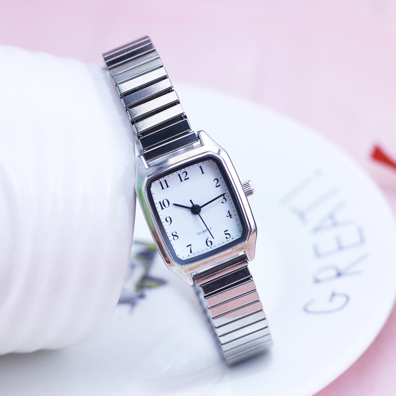 2018 New Old Women Ladies High Quality Watches Flexible Elastic Strap Fashion Simple Stainless Steel Electronic Wristwatches