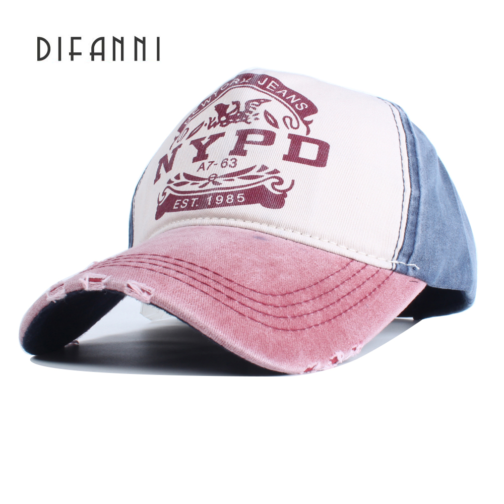 Difanni new Brand retro baseball cap women fitted cap ...