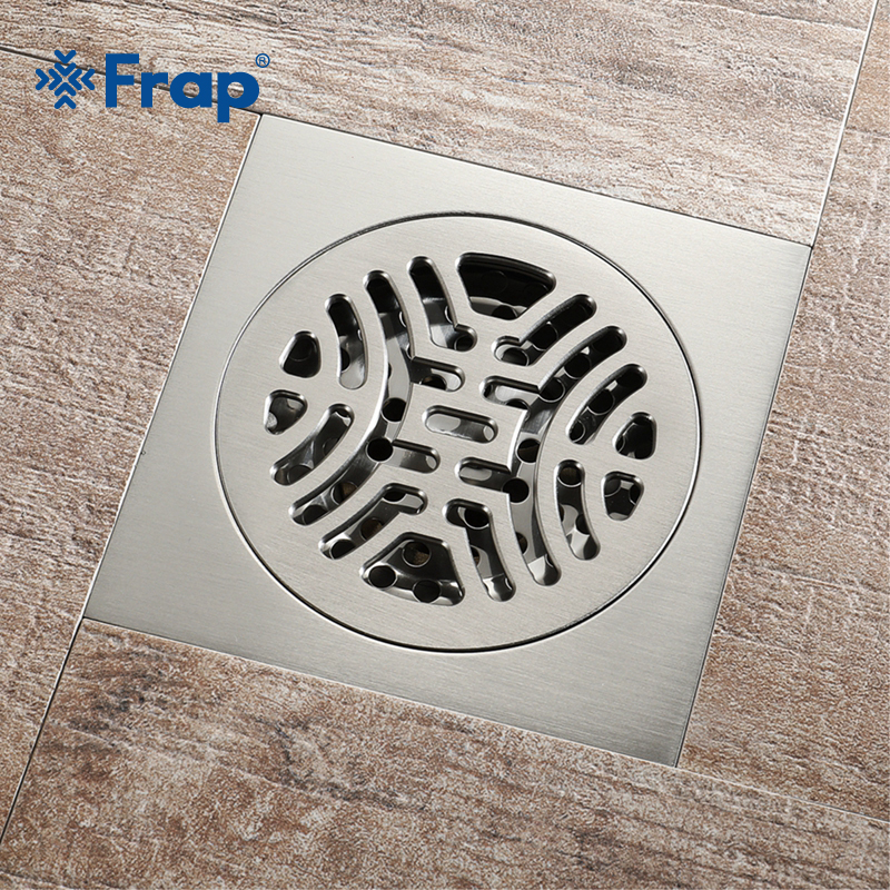 F High Quality Copper Shower Floor Drain Bathroom Toilet 10*10 cm Floor Drain Water Anti-Odor Floor Drain Floor Drain Y38111 free shipping high quality brass floor drain anti odor anti water backing anti virus chrome plated surface diameter is 40mm