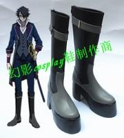 K Fushimi Saruhiko Halloween Long Thick Heels Cosplat Shoes Boots H016