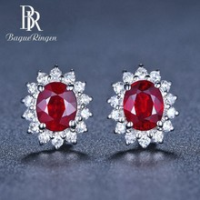 Begua Ringen 2019 Luxury Romantic Wedding Brand Womens Stud Earrings Silver 925 Jewely Gemstone Party Engagement Gifts