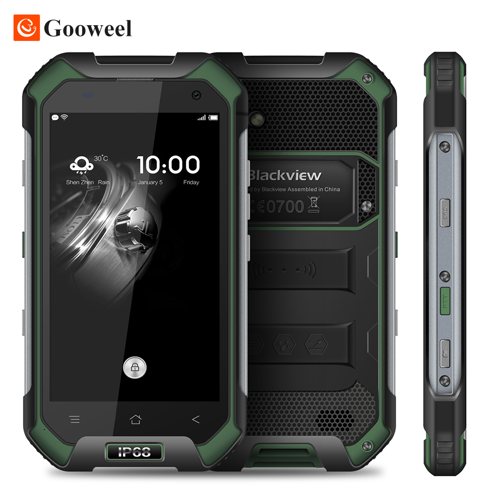 "Big Sale! Blackview BV6000S Smartphone 4G Waterproof IP68 4.7"" HD MT6735 Quad Core Android 6.0 Mobile cell Phone 2GB +16GB 13MP"