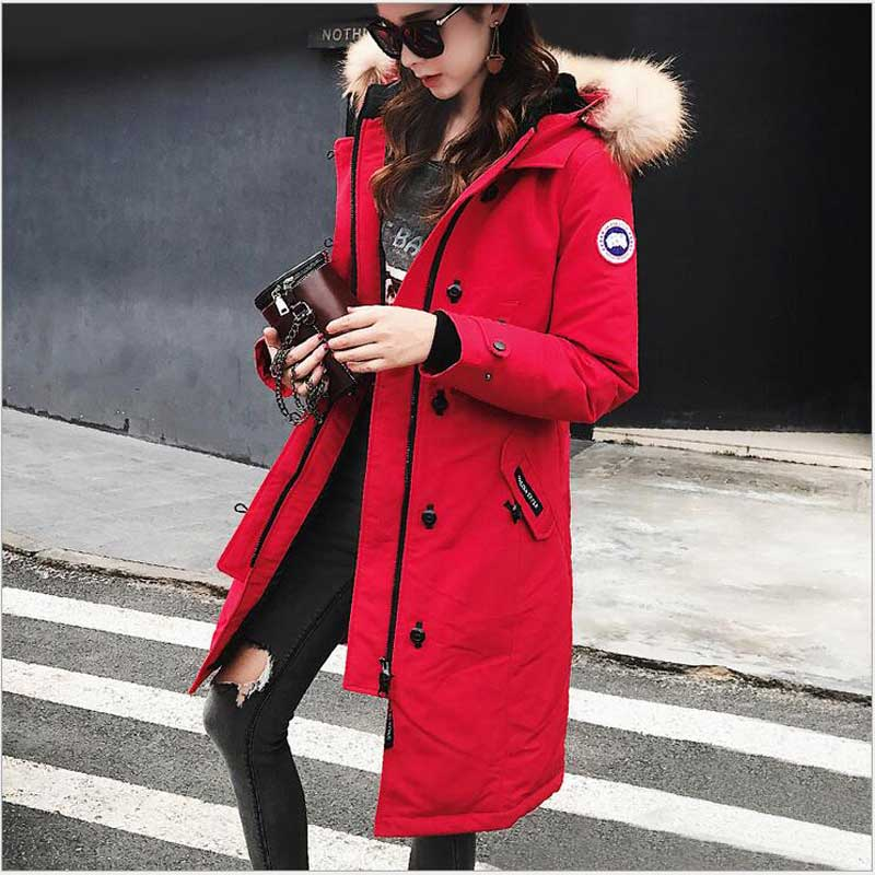 Omlesa 2017 New Autumn Parkas Winter Jacket Women Coats Female Outerwear Casual Long Down Cotton Wadded Lady Woman Fashion Warm