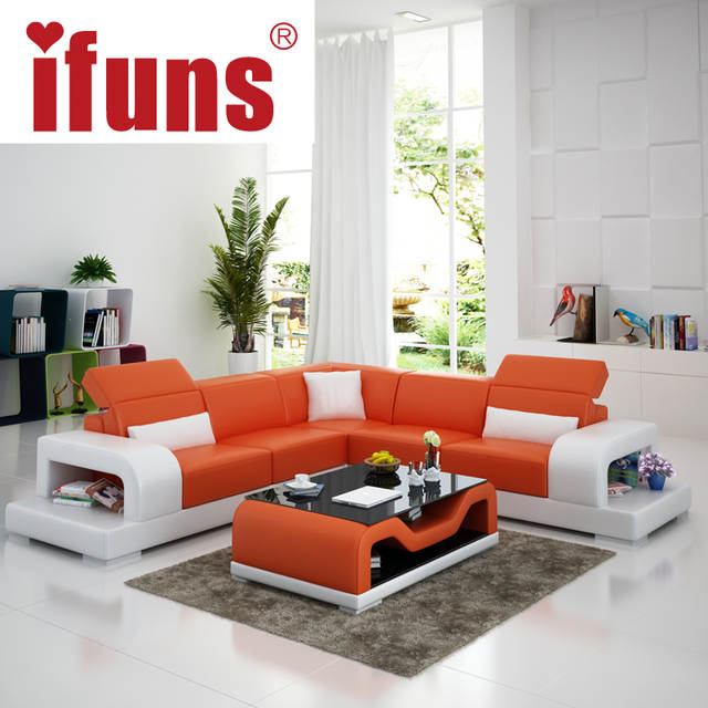 IFUNS cheap sofa sets home furniture wholesale white leather l shape ...