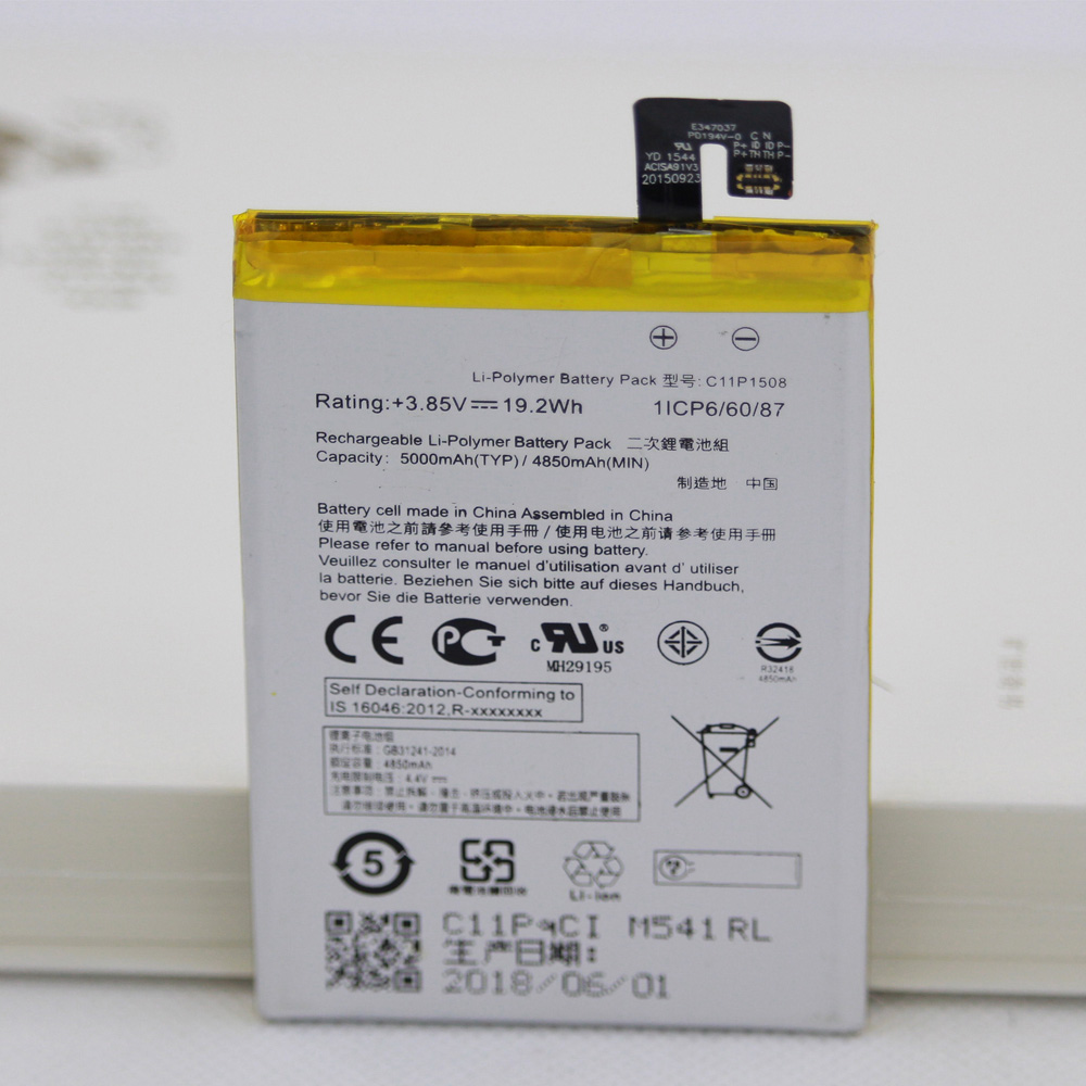For <font><b>ASUS</b></font> Zenfone Max ZC550KL Z010AD Z010DD <font><b>Z010D</b></font> Z010DA 5000mAh C11P1508 Mobile Phone Rechargeable <font><b>Battery</b></font> With Repair Tools image