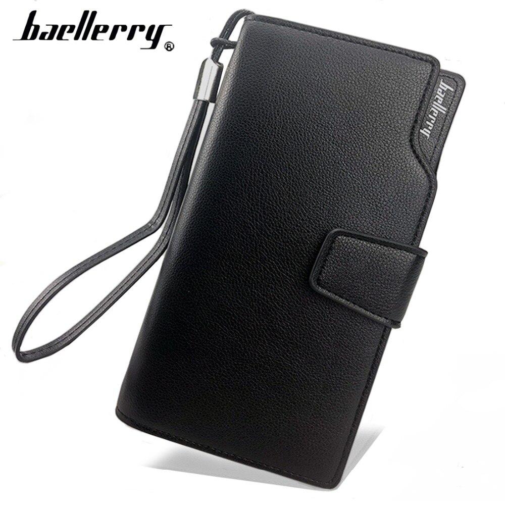 Korthållare Läder plånbok män Lång design Kvalitet pass täcka - Plånböcker - Foto 2