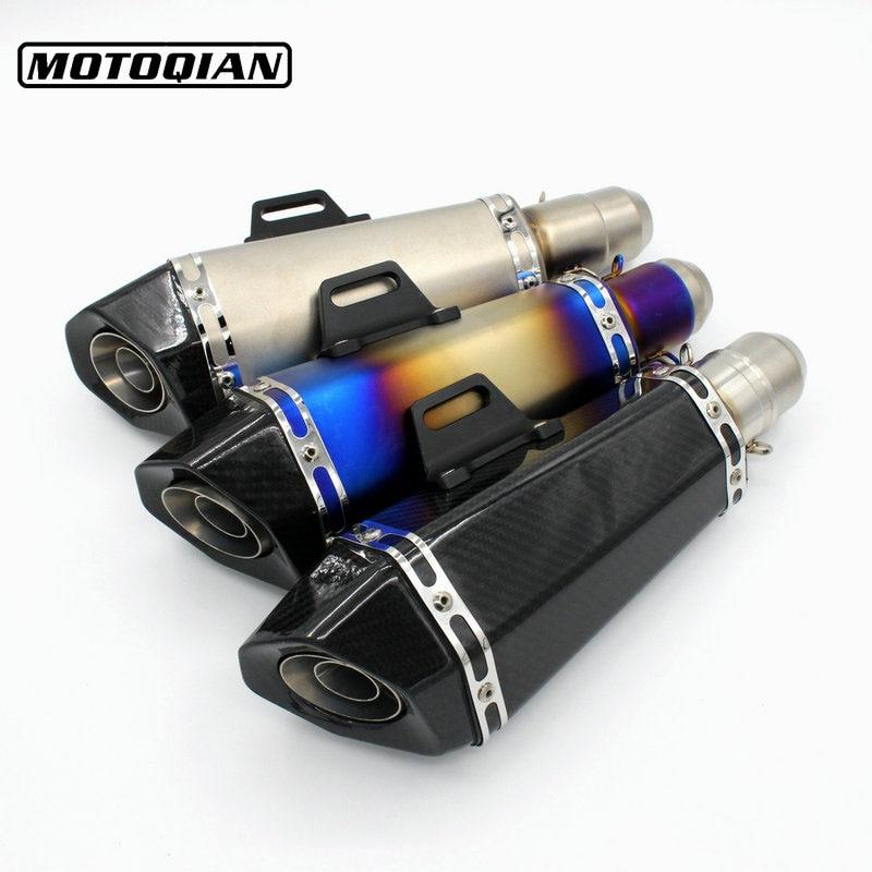 51mm Universal Motorcycle Exhaust Slip on Muffler Pipe Escape For Kawasaki Z250 Z750 Z750R Z800 Z900 Ninja 250R 300 Accessories