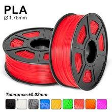 Высокое качество PLA нити 1,75 мм для 3d принтера 100% без пузырьков сублимационные заготовки яркий цвет 3d принтер PLA нити 1 кг