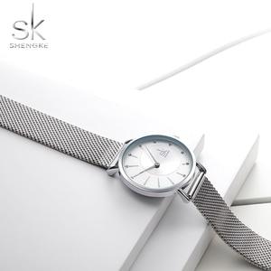 Image 4 - Shengke Watch Women Casual Fashion Quartz Wristwatches Crystal Design Ladies Gift Relogio Feminino Mesh Band Zegarek Damski 2020