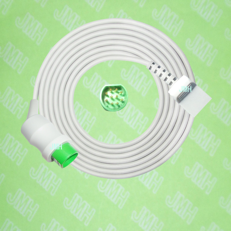 Compatible with Siemens Sirecust 400-1281 the Utah IBP transducer Adapter cable,10pin to 4pin.Compatible with Siemens Sirecust 400-1281 the Utah IBP transducer Adapter cable,10pin to 4pin.