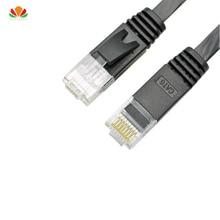 Cable de red plano UTP CAT6 30m 50m, cable de ordenador, cable de parche gigabit ethernet, adaptador RJ45, cables de par trenzado de cobre, cable GigE LAN
