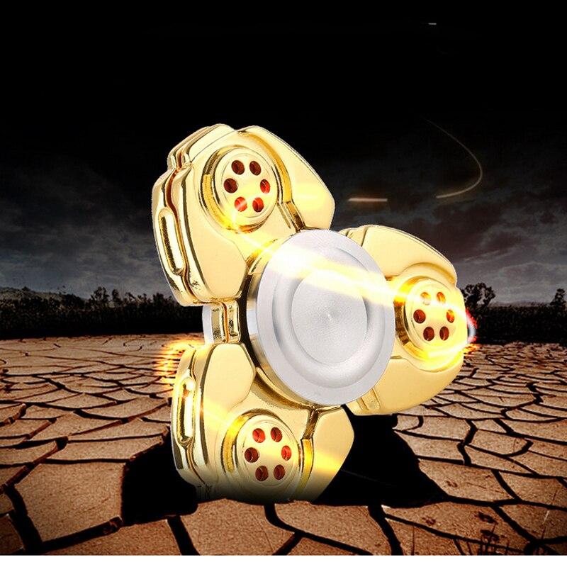CKF PEPYAKKA Metal Alloy Tri Spinner EDC Spin Fidgets Anti Stress Sensory Metal Finger Spinner Hand