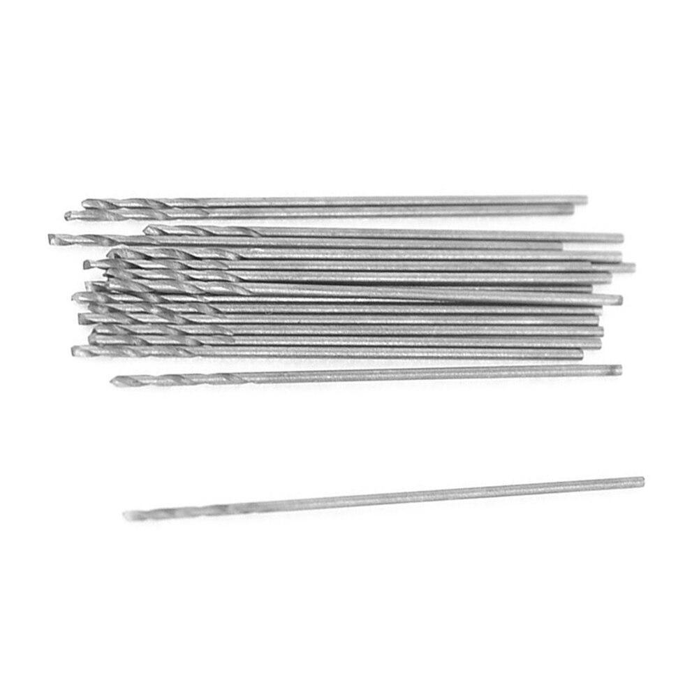 THGS 20 Pcs 0.5mm Diameter Straight Shank Metal Spiral Twist Drill Bit