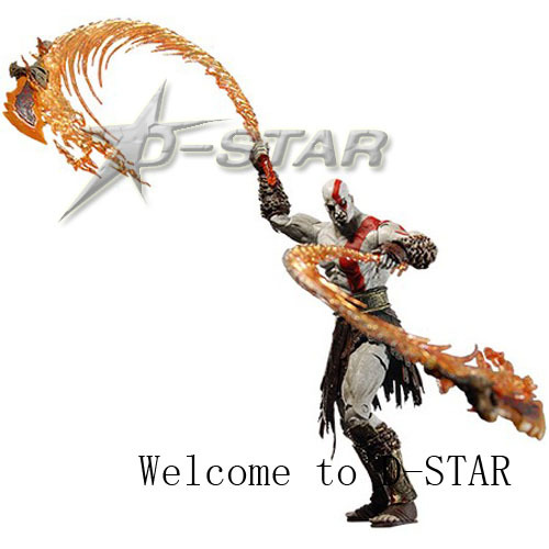 Free Shipping Cool 7 God of War Kratos with Flaming Blades of Athena PVC Action Figure Collection Model Doll Toy Gift