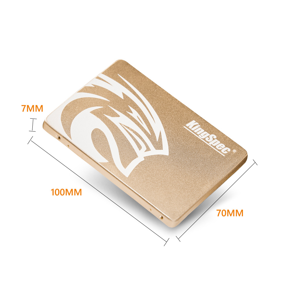 KingSpec SSD 480 gb SSD hdd SATA III 500 gb ssd 960 GB 1 to SSD interne à semi-conducteurs en métal doré pour pc de bureau portable cadeau