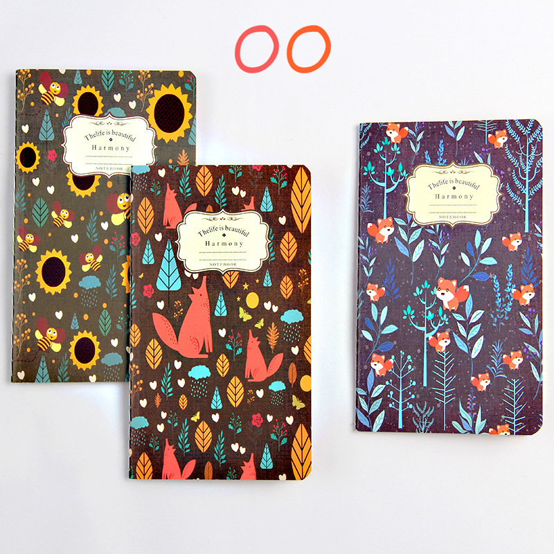 BPinteresting Pattern Ancient Ways Kraft Small Notebook Flower Colour Notepad Exquisite Manuscripts Small Gift SGBJB3/4 fashionable small red flower pattern 6cm width tie for men