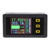 Medidor do amplificador do volt da c.c. 0-90 v 0-20a do verificador da bateria da carga-descarga do multímetro digital
