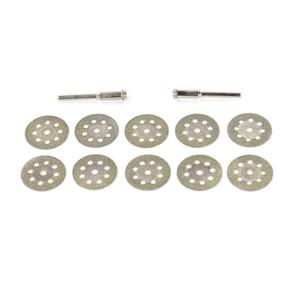 Image 5 - Sıcak! 10 adet Dremel aksesuarları 20mm elmas Dremel kesme diski Metal taşlama diski için daire testere matkap döner aracı