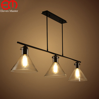 Glass Retro Iron Pulley Pendant Lights Loft American Vintage Industrial Pulley Rope Antique Edison Pendant Lamps WPL168