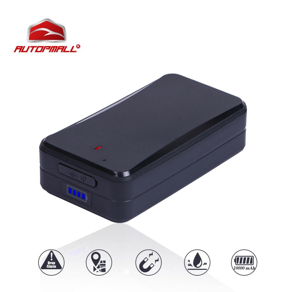 GPS Tracker Voiture Aimants Véhicule Tracker Concox AT4 10000 mAh Étanche IPX5 WiFi GSM GPRS LBS Localisateur Logiciel de Suivi Gratuit APP