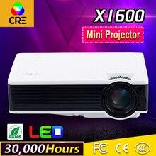 Mini LED Proyector portátil 800×480 Alto brillo 1000 Lúmenes Proyector Multimedia Home Cinema Teatro VGA HDMI USB SD AV