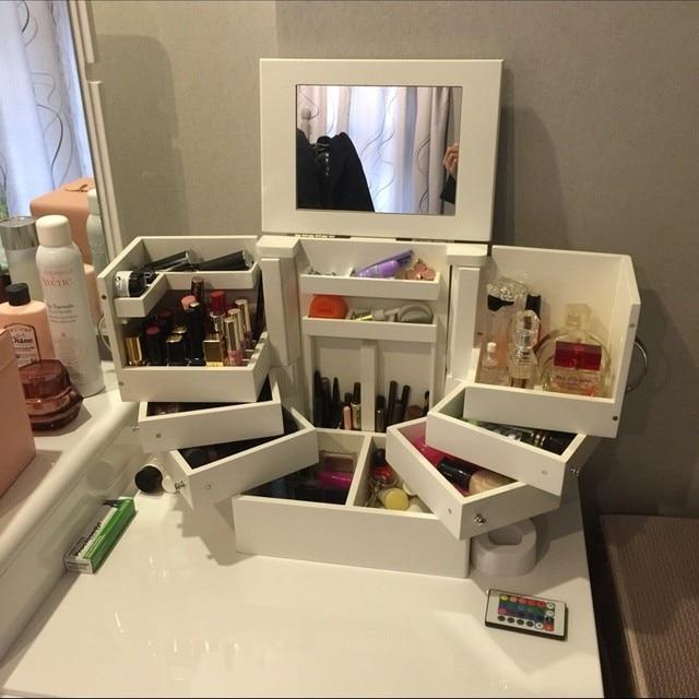 Cajas de almacenamiento de cosméticos de almacenamiento grande cajón ...