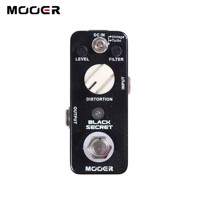 MOOER  Black Secret Distortion Pedal 2 Working Modes:Vintage/Turbo Full metal shell True bypass Guitar effect pedal nux metal core distortion stomp boxes electric guitar bass dsp effect pedal 2 metal hardcore sound true bypass