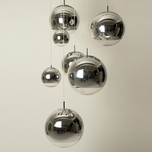 Nordic Golden glass Ball pendant lights Restaurant bar indus
