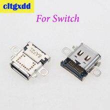 Cltgxdd USB 유형 C 전원 커넥터 도크 USB C 잭 닌텐도 스위치 콘솔 충전 포트 유형 C 충전기 플러그 소켓 소켓