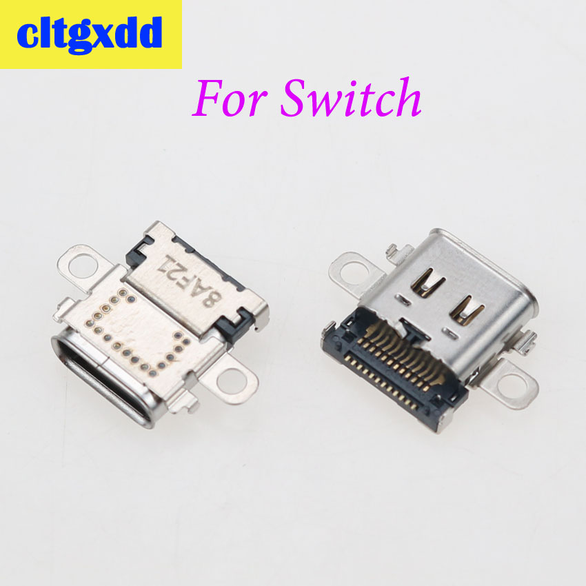 cltgxdd USB Type C Power Connector Dock USB-C Jack For Nintendo Switch Console Charging Port Type-C Charger Plug Female Socket