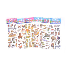 6 Sheets Different 3D Cute Cartoon Animals Tiger Stickers Toys Pegatinas Funny Toy For Children On Scrapbook Phone Laptop Gifts(China)