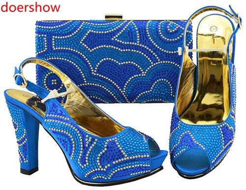 Avec Mariage Chaussures Mode Le Assorti 7 Noir bleu pourpre Doershow Pour jaune Femmes Et Ensemble rose De Italien EnsembleHh1 Sac Italiennes Correspondant Conception Africaine CBWredxo
