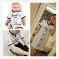 Spring New Family Fitted T-Shirts Mother Daughter Clothes Striped Fashion Baby Boy Bodysuit Newborn Two Suit Children's Sets
