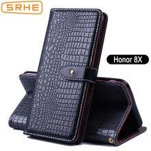 934a33ca587 SRHE Huawei Honor 8X housse Flip cuir Silicone portefeuille étui pour  Huawei Honor 8X8 X avec
