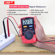 Mini Digital Multimeter UNI-T UT120C LCD Pocket Size  Auto Range  AC DC voltage Current Ohm meter Frequency Capacitance Tester