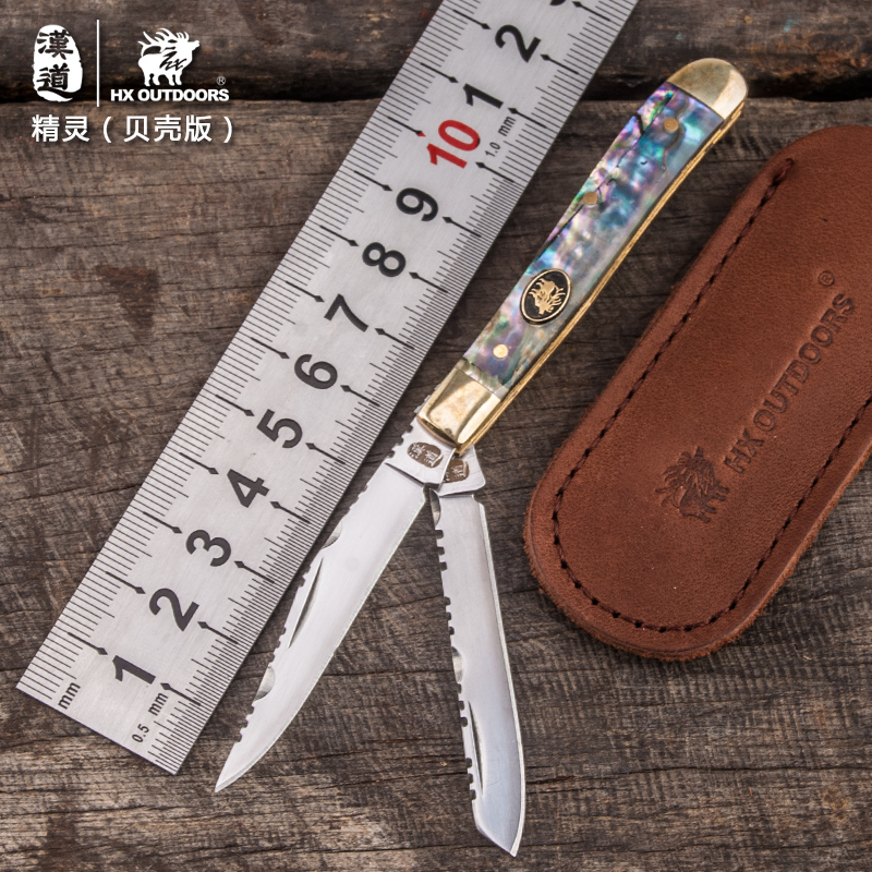 HX OUTDOORS survival knives pocket double knife high grade gift good quality portable carry knife EDC carry too knife high quality army survival knife high hardness wilderness knives essential self defense camping knife hunting outdoor tools edc