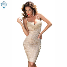 Ameision Women Party Dress Sling Bag Hip For Evening Slim Sexy lace deep V neck Sleeveless Club Prom Midi