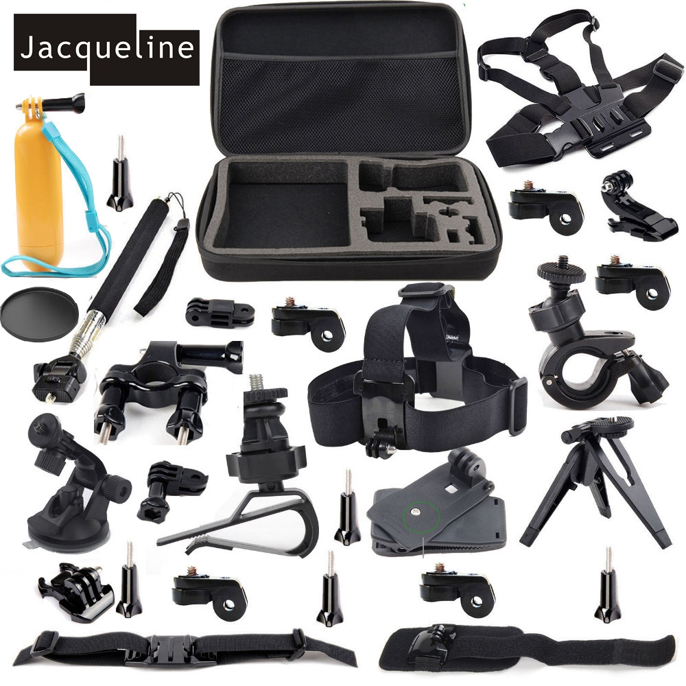 Jacqueline for Outdoor Sports Accessories Kit for Sony Action Cam HDR AS30V AS15 AS20 AS100V AS200V FDR-X100V/W 4K AZ1 Mini jacqueline for set kit accessories for sony action cam hdr as200v as30v as100v as20 az1 mini fdr x1000v w 4 k for yi action cam