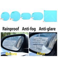 Anti nebbia auto specchio finestra trasparente pellicola membrana antiriflesso impermeabile antipioggia autoadesivo dellautomobile accessori 2 pz/set