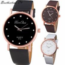 Montres Femmes 2016 Diamond Bracelet Watches Women Fashion PU Leather Wristwatch Men's Quartz Watch Woman Clock Relogio Feminino
