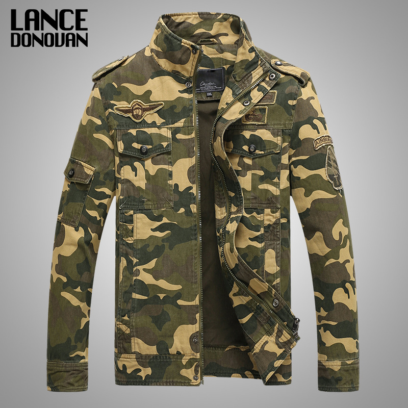 Army Military jacket men camouflage Tactical Camouflage casual fashon bomber Jackets-in Jackets from Men's Clothing