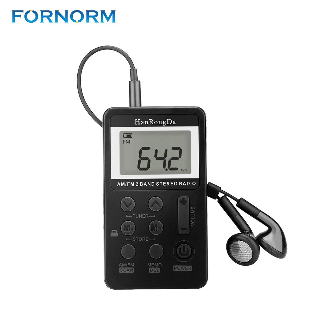 fornorm am fm radio portable mini digital tuning am fm. Black Bedroom Furniture Sets. Home Design Ideas