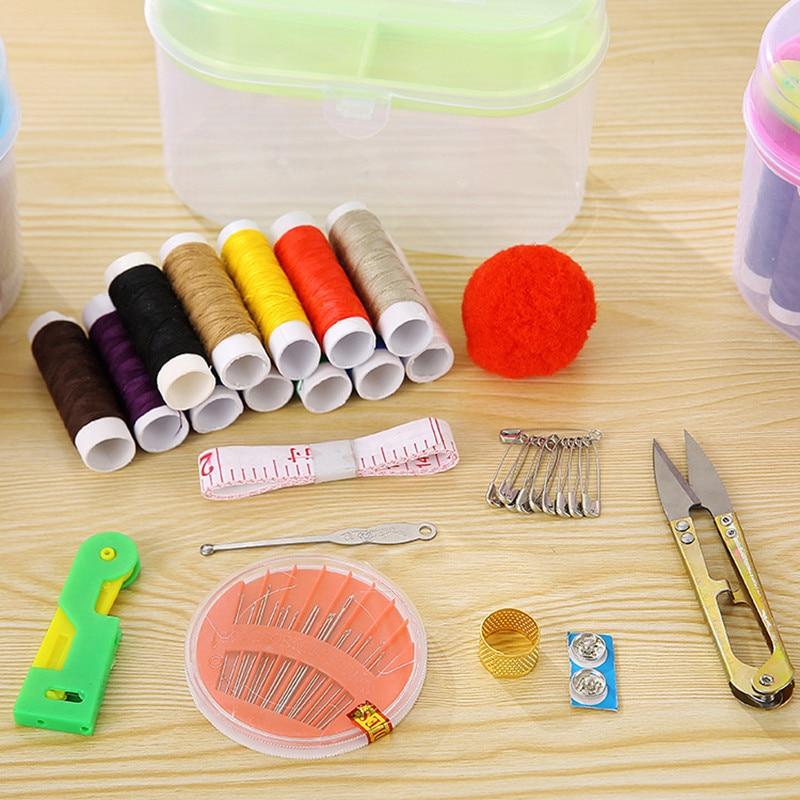 DIY Sewing kit Thread Threader Needle Tape Measure Scissor ...