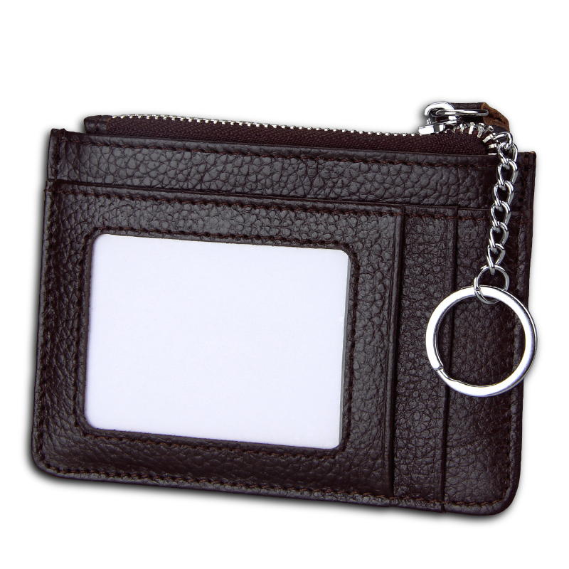 TRASSORY Anti Rfid  Business Bank Credit ID Card Holder Zipper Top Card Case Utra Leather Slim Coin Purse