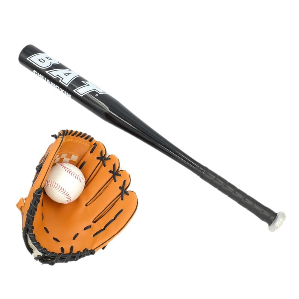 Practical Wholesale 20sets/lot 24'' Aluminum Black Kids Baseball Bat Set Softball Racket Outdoor Sports Bat 9 Softball