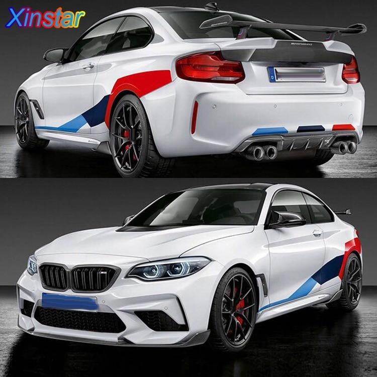 Стикер кузова автомобиля KK, 3 цвета, для BMW 2 3 5 series M2