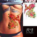 Hot 3D Tattoos One-time Temporary Tattoos Large Colorful Phoenix Chest Tattoo Waterproof Female Body Art Back Tatoo for Wedding