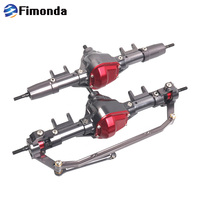 Fimonda RC Front And Rear Axle Alloy Straight Axle For 1/10 RC Crawler Car Axial SCX10 90046 90047 Upgrade Parts